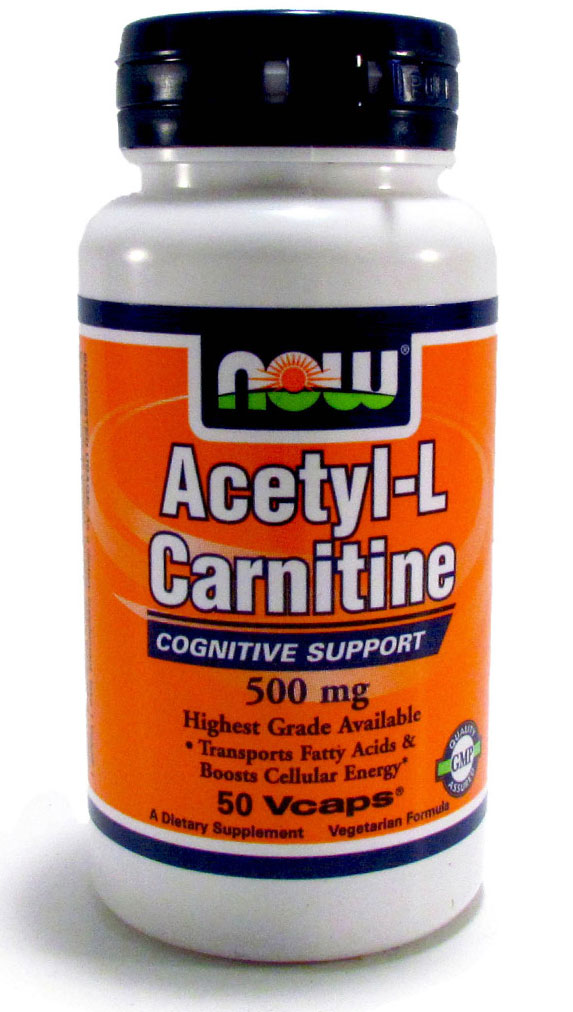 Acetyl-L Carnitine 500 mg NOW (50 кап)