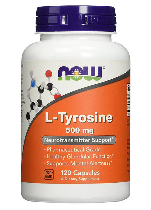 L-Tyrosine 500 mg NOW (120 кап)