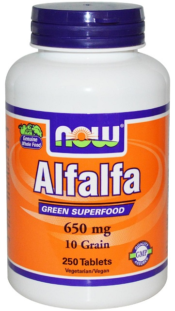 Alfalfa 650 mg NOW (250 таб)