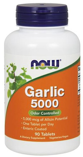 Garlic 5000 NOW (90 таб)(годен до 10/2017)
