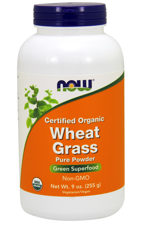 Wheat Grass Powder 9 oz NOW (255 гр)(годен до 11/2017)