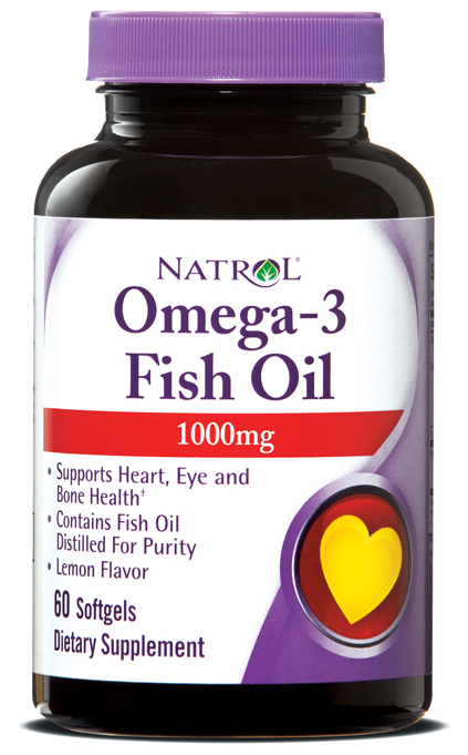Omega-3 Fish Oil 1000 mg Natrol (60 гелевых капсул)