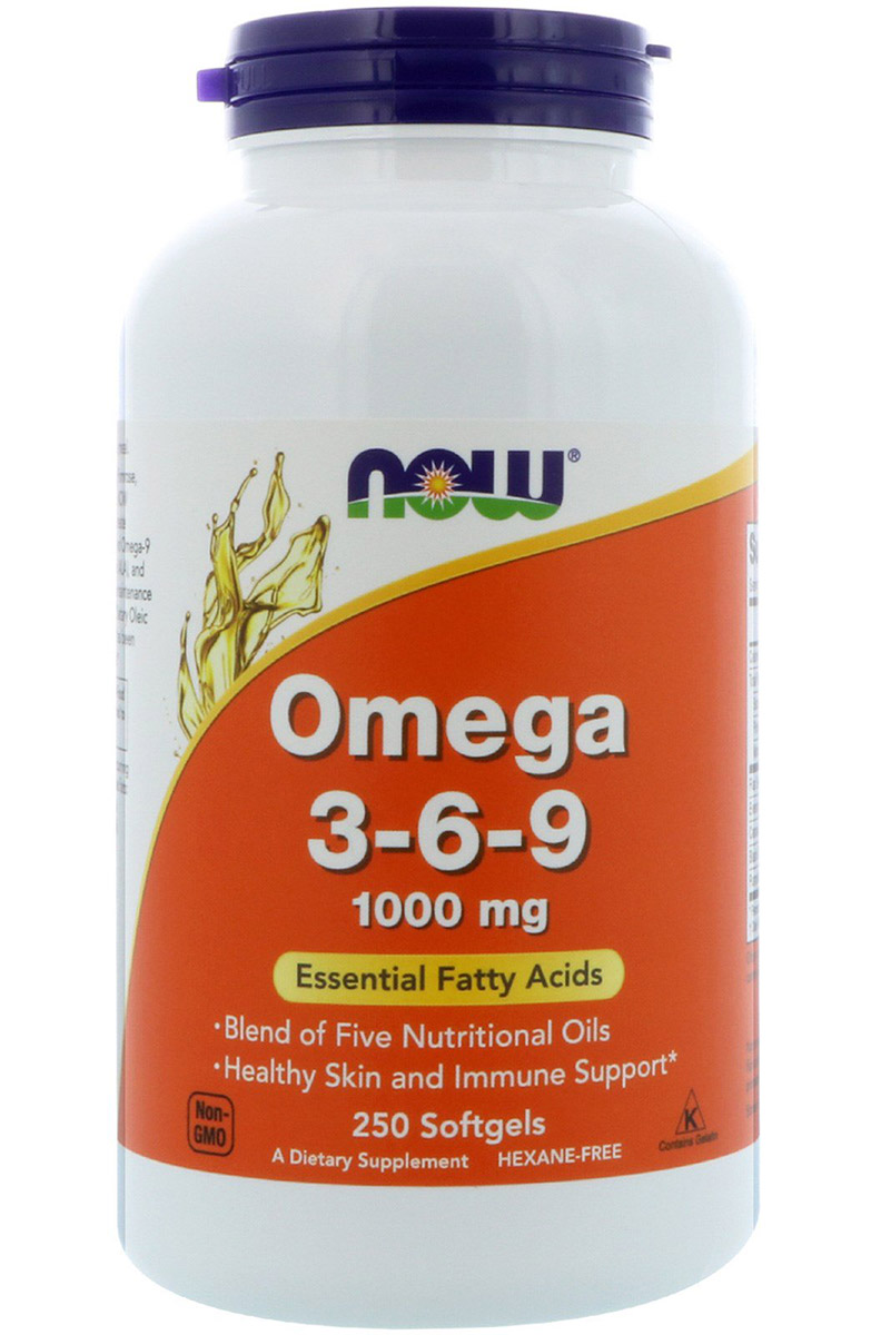Omega 3-6-9 1000 mg NOW (250 гелевых капсул)