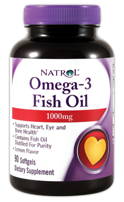 Omega-3 Fish Oil 1000 mg Natrol (90 гелевых капсул)