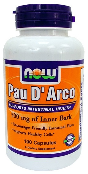 Pau D Arco 500 mg NOW (100 Capsules)