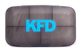 Кейс для капсул KFD (12,5 см х 7 см х 3 см)