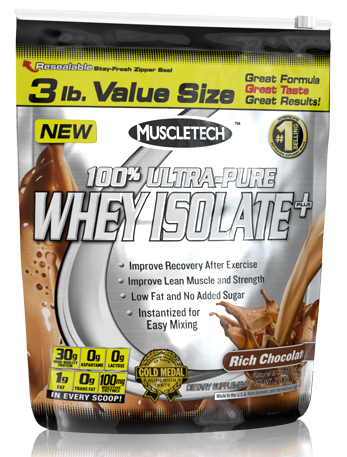 100% Ultra-Pure Whey Isolate Plus Muscle Tech (1400 гр)