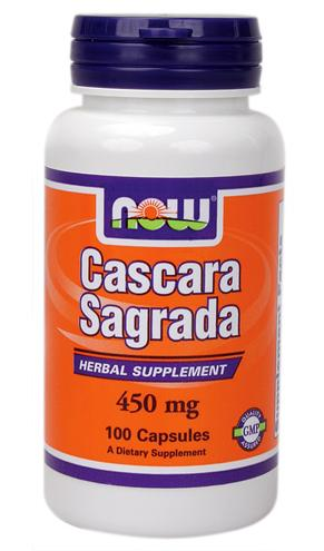 Cascara Sagrada 450 mg NOW (100 Capsules)