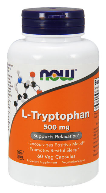 L-Tryptophan 500 mg NOW (60 Veg Capsules)