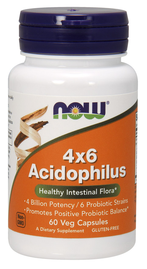Acidophilus 4x6 NOW (60 cap)