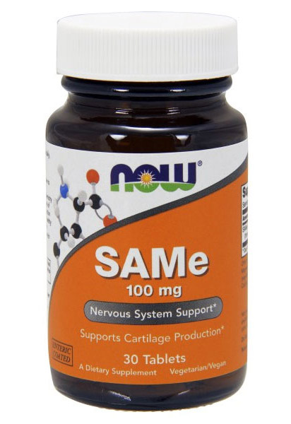 SAMe 100 mg NOW (30 таб)
