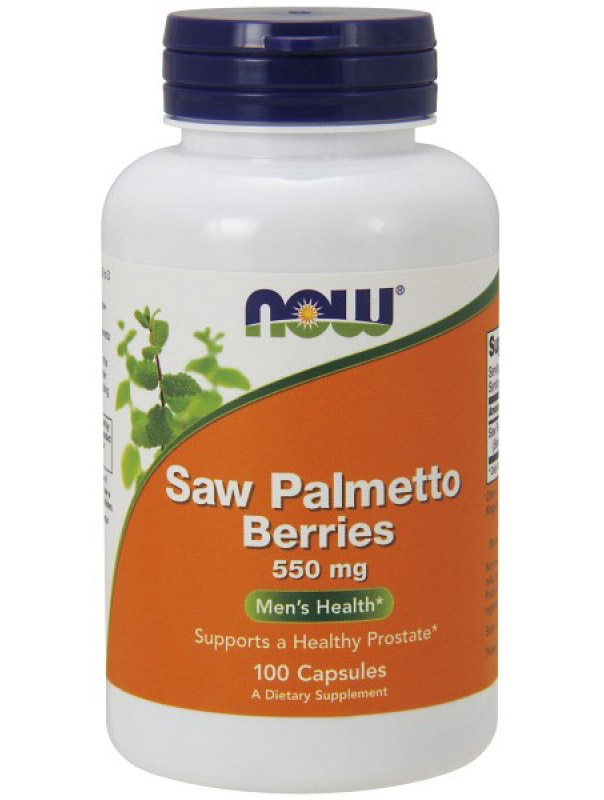 Saw Palmetto Berry 550 mg NOW (100 Capsules)