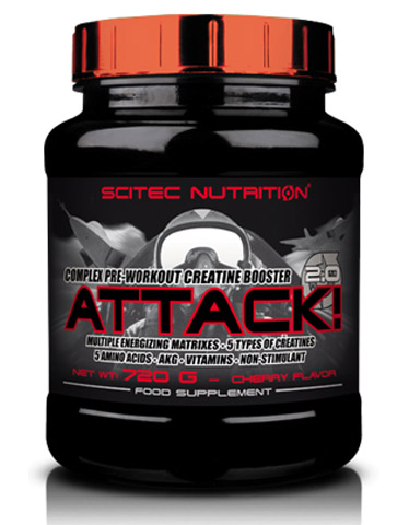 ATTACK! 2.0 SCITEC NUTRITION (720 гр)