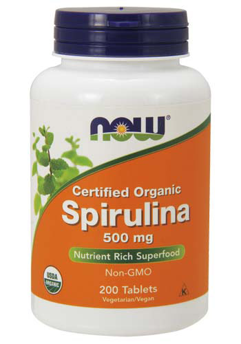 Spirulina 500 mg NOW (200 таб)