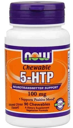 5-HTP 100 mg NOW (90 chewables)