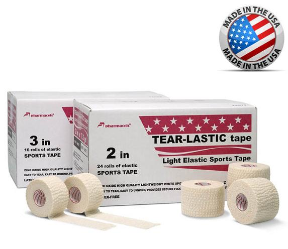 Tear-Lastic Tape-Тейп Спортивный Эластичный Pharmacels7,5см-6,9м