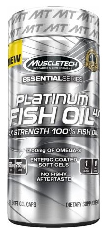 100% Platinum Fish Oil 4x Muscle Tech (60 soft gel caps)