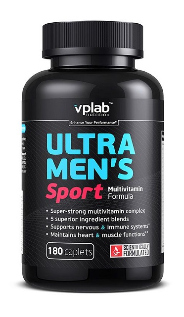 Ultra Men's Sport Multivitamin Formula VPLab Nutrition (180 кап)