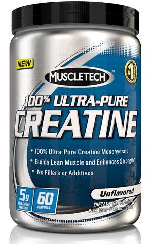 100% Ultra-Pure Creatine Muscle Tech (300 gr)