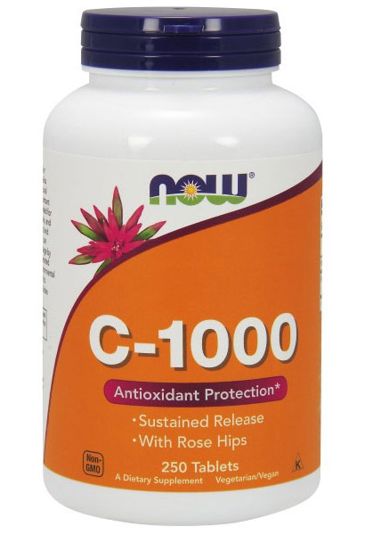 Vitamin C-1000 Sustained Release NOW (250 таб)(годен до 02/2019)