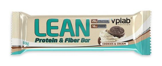 Lean Protein Fiber Bar VPLab Nutrition (60 гр)(годен до 03/2019)