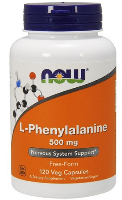 L-Phenylalanine 500 mg NOW (120 кап)
