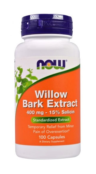 Willow Bark Extract 400 mg NOW (100 caps)(EXP 01/2020)
