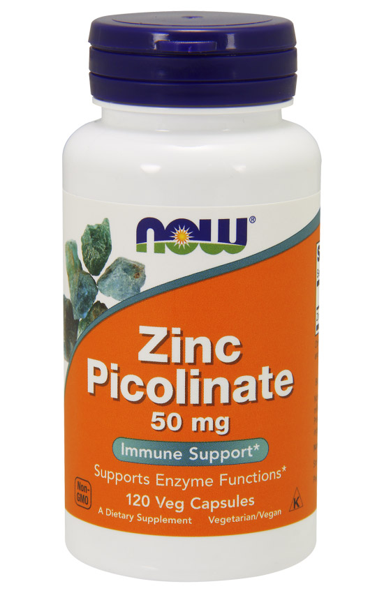 Zinc Picolinate 50 mg NOW (120 Caps)