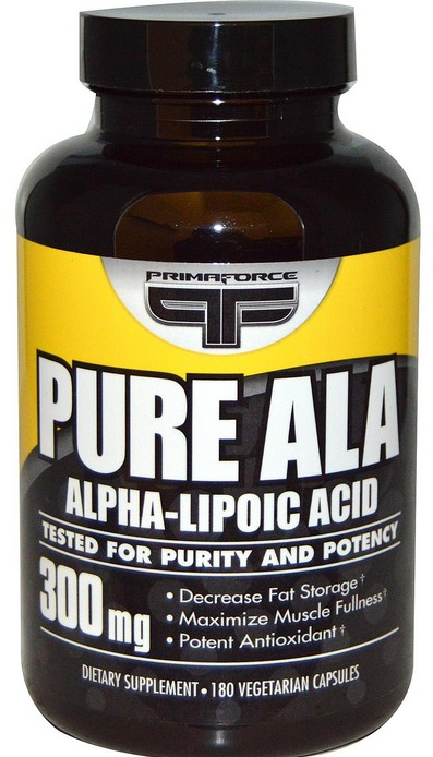 Alpha Lipoic Acid 300 mg PrimaFORCE (180 кап)